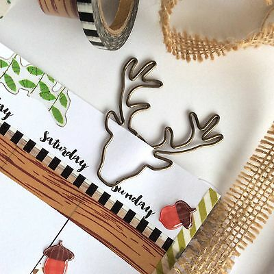 Paper clips Woodland Stag Christmas Reindeer Planner Accessories Paperclip