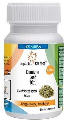 Damiana Leaf Extract 10:1 Capsule (Turnera Diffusa) Pure High Quality extract