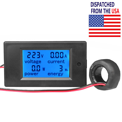 100A AC Digital LED Power Panel Meter Monitor Power Energy Voltmeter Ammeter New