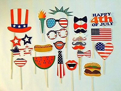 UsaSales USA-SALES 4th of July Photo Booth Props, Independence Day Party