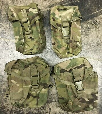 US Army MOLLE Multicam OCP Saw Gunner Pocket Taschen 100 / 200 round pouch Set