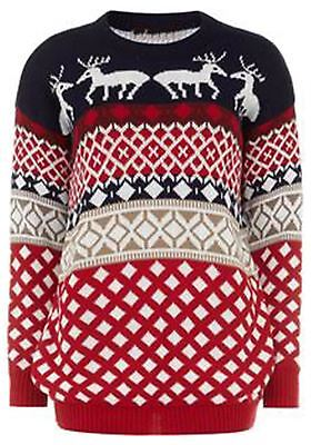 New Mens Reindeer Xmas Sweater Novelty Christmas Knitwear Jumpers S-3XL