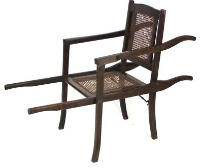 Antique Mahogany and Cane Invalid Chair Early 20C - FREE Delivry ​[PL2565]
