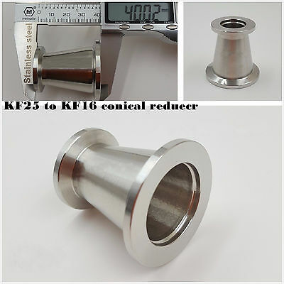 KF25 (NW25) to KF16 (NW16) Conical Reducer Union SS304 Vacuum Adapter