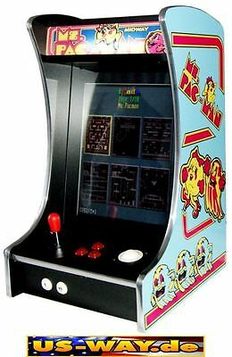 G-288 Mr. Pac Man Classic Arcade TV Video Spielautomat Thekengerät,  412 Spiele