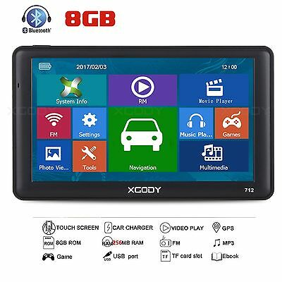 XGODY 8GB 7 '' MAP Camión Sat Nav Bluetooth AV-IN del carro del coche de navegac