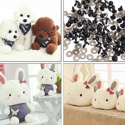 100pcs Wholesale Plastic Safety Eyes For Teddy Bear Making Dolls Soft Toys Black