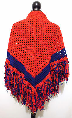 CULT VINTAGE '70 Scialle Stola Donna Lana Woman Hand Made Wool Shawl
