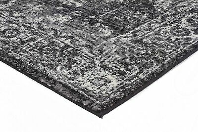 SULIS ALLOVER CHARCOAL BLACK TRADITIONAL FLOOR RUG (M) 160x230cm **FREE DELIVERY