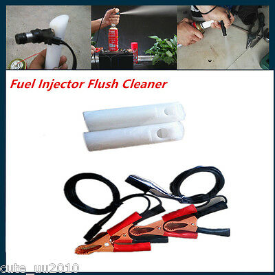 Engine Fuel Injector Flush Cleaner Adapter DIY Kit Set Car Vehicle Clean Tool
