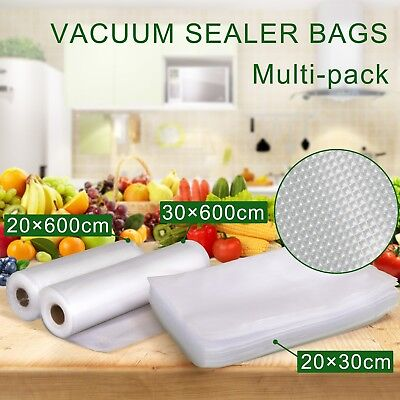 10 Rolls Vacuum Food Sealer Rolls Saver Seal Bag Storage Commercial Heat Grade
