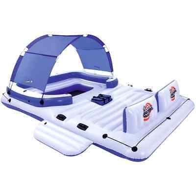 6 person Floating island Raft Water Lounge Boat Lake Inflatable Giant Party Tube
