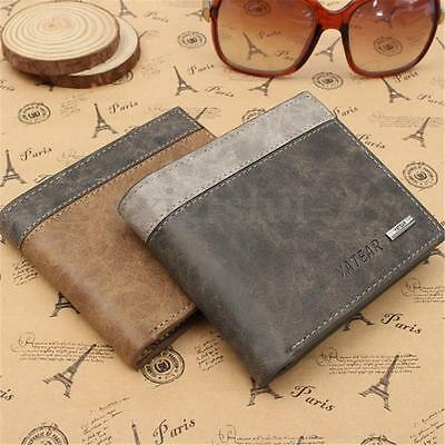 Mens Luxury Soft Quality Leather Wallet Credit Card Holder Purse Brown Grey Gift