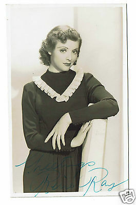 Rene Ray Actress 1930s - Hand Signed Vintage postcard 5 x 3