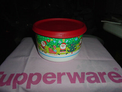 Tupperware Brand New 6c holiday Canister Colorful ST