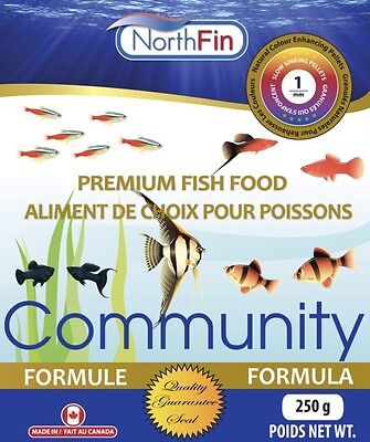 NORTHFIN COMMUNITY FORMULA 1mm 250 g omnivore carnivore premium fish food
