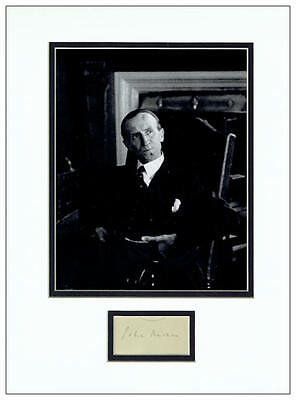 John Buchan Autograph Signed Display - The Thirty Nine Steps - AFTAL  UACC RD