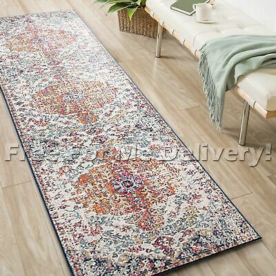 SULIS FLORAL COLOURFUL TRADITIONAL RUG RUNNER (L) 80x400cm **FREE DELIVERY**
