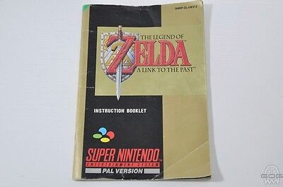 ORIGINAL REPLACEMENT MANUAL - ZELDA A LINK TO THE PAST - Super Nintendo - SNES