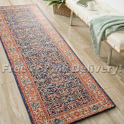 SULIS FLORAL ALLOVER COLOURFUL TRADITIONAL RUG RUNNER (XL)80x500cm *FREE DELIVER