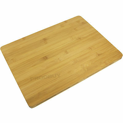 40cm Rectangular Bamboo Wood Food Chopping Board Herb Cutting Slicing Wooden