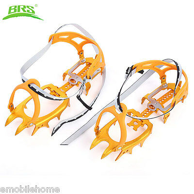 BRS Ultralight Aluminum Alloy 14 Teeth Bundled Crampons Mountaineering Climbing