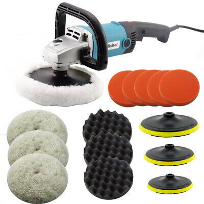 Car Polisher Buffer Sander Electric Polishing kit Variable Speed 1400W 180mm