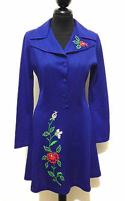 SARTORIA VINTAGE '70 Abito Vestito Donna Lana Wool Woman Dress Sz.S - 40
