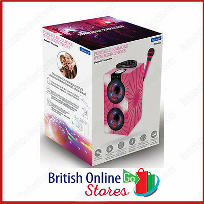Lexibook Karaoke Machine with Microphone And Light Effects Pink