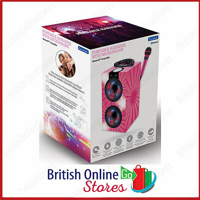 Portable Lexibook karaoke machine with microphone bluetooth pink Brand new