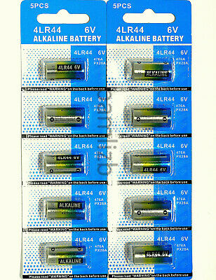 10x 4LR44 6v batteries Alkaline PX28A 476A A544 4A76 battery by Eunicell  6 Volt
