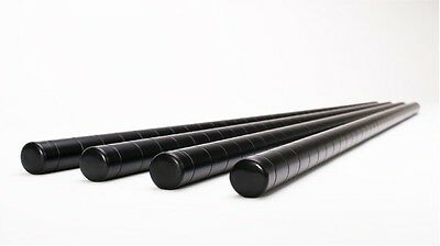 "72"" Long Wire Shelving Poles - 1"" Pole Diameter - Black Color"
