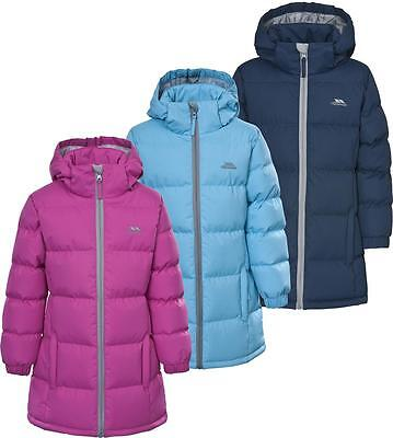 Trespass Tiffy Padded Girls Puffa Jacket Water Repellent Insulated Longer length