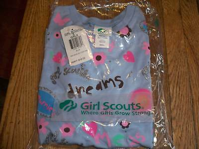 NWT Brownie Girl Scout Blue Glitter T-shirt Large Plus L+ or Extra Large XL