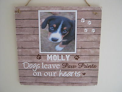 Handmade Personalised Photo Plaque Pet Dog Cat Memorial Remembrance Gift