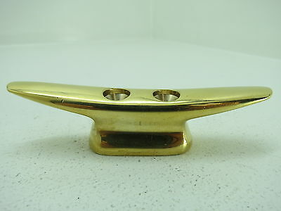 3+13/16 Inch Brass Cleat Ship Boat Dock Chock Bronze (#1727)