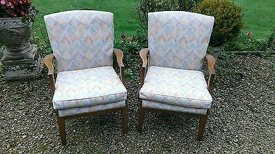 Pair  Of  Vintage  Parker  Knoll  Armchairs