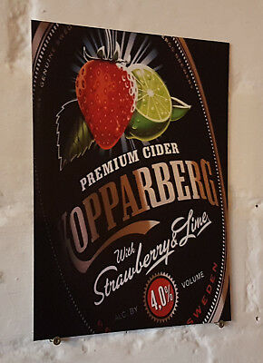 kopparberg cider Retro metal Aluminium Sign vintage bar pub man cave beer signs