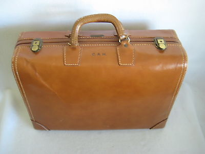 Crouch & Fitzgerald New York Vintage Leather  Suitcase Rare 20 Inch