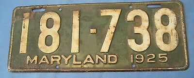 1925 Maryland License Plate