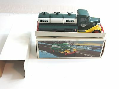 Vintage 1985 Hess Tanker Truck Bank With Original Box With Insertrs / Mint Cond