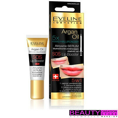 EVELINE SOS Lip Boster 5 in 1 Argan Oil Active Serum 12ml EV037