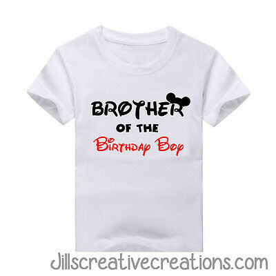 Brother of the Birthday Boy  (or girl) T Shirt , Mickey Mouse, T-shirt, Birthday