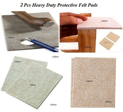 2 Heavy Duty Self Adhesive Furniture Felt Pads Wood Laminate Floor Protector
