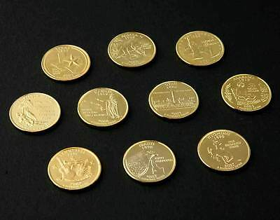24 kt Gold-Plated State Quarter 10-Pack