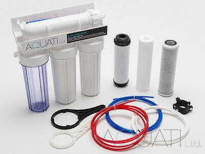 4 Stage Reverse Osmosis Water Filter 50/75/100/150GPD Aquarium Tropical Marine