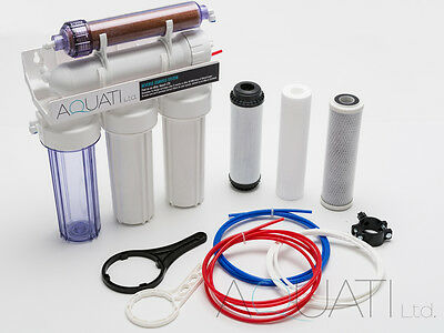 5 Stage RO & DI resin reverse osmosis water filter system 50/75/100/150GPD