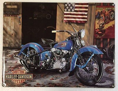 Ande Rooney HARLEY DAVIDSON AT YOUR SERVICE Motorcycle HD Garage Tin Sign