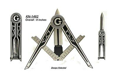 Masonic Folding Pocket Knife - Square and Compass Shape Unique Freemason