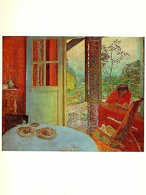 1969 Vintage Bonnard Dining Room In The Country Color Offset